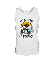 LIFE IS BETTER IN THE MOUNTAINS WITH A DOG Unisex Tank thumbnail