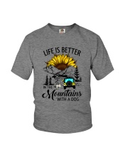 LIFE IS BETTER IN THE MOUNTAINS WITH A DOG Youth T-Shirt thumbnail
