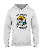 LIFE IS BETTER IN THE MOUNTAINS WITH A DOG Hooded Sweatshirt thumbnail