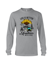 LIFE IS BETTER IN THE MOUNTAINS WITH A DOG Long Sleeve Tee thumbnail