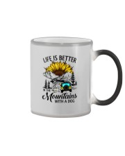 LIFE IS BETTER IN THE MOUNTAINS WITH A DOG Color Changing Mug thumbnail