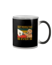 BEST  Poodle DAD EVER Color Changing Mug tile
