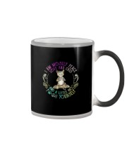I AM MOSTLY PEACE LOVE AND CATS Color Changing Mug thumbnail