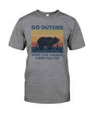 GO OUTSIDE BEAR Classic T-Shirt front