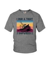 I RUN A TIGHT SHIPWRECK LIGHT Youth T-Shirt thumbnail