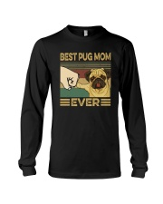 BEST PUG MOM EVER Long Sleeve Tee tile