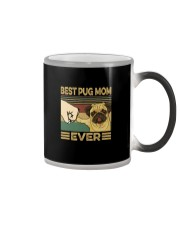 BEST PUG MOM EVER Color Changing Mug tile