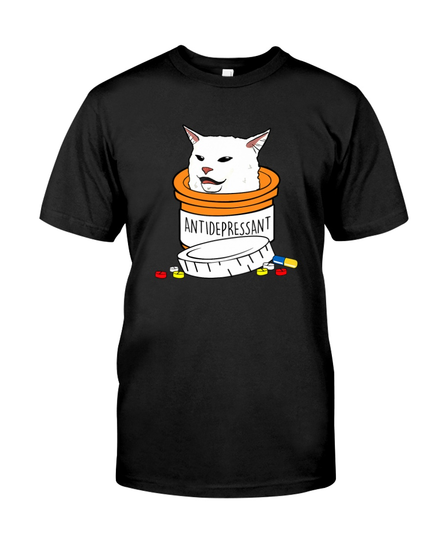 ANTIDEPRESSANT MEME CAT Classic T-Shirt
