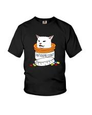 ANTIDEPRESSANT MEME CAT Youth T-Shirt thumbnail