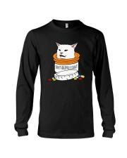 ANTIDEPRESSANT MEME CAT Long Sleeve Tee thumbnail
