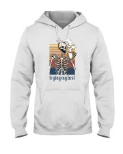 TRYING MY BEST SKULL COFFEE Hooded Sweatshirt thumbnail