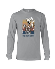 TRYING MY BEST SKULL COFFEE Long Sleeve Tee thumbnail