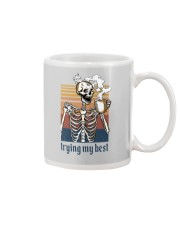 TRYING MY BEST SKULL COFFEE Mug thumbnail
