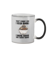 READ BOOKS DRINK COFFEE AND KNOW THINGS SLOTH Color Changing Mug thumbnail