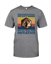 WE ALL ROLL FOR INITIATIVE Classic T-Shirt front