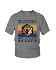 WE ALL ROLL FOR INITIATIVE Youth T-Shirt thumbnail