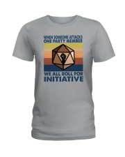 WE ALL ROLL FOR INITIATIVE Ladies T-Shirt thumbnail