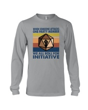 WE ALL ROLL FOR INITIATIVE Long Sleeve Tee thumbnail