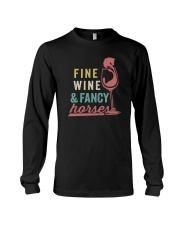 FINE WINE AND FANCY HORSES Long Sleeve Tee thumbnail