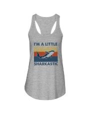 I'M A LITTLE SHARKASTIC Ladies Flowy Tank thumbnail