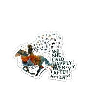 AND SHE LIVED HAPPILY EVER AFTER 1 Sticker - 4 pack (Vertical) front