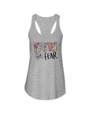 FAITH OVER FEAR Ladies Flowy Tank thumbnail