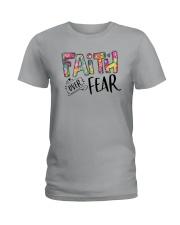 FAITH OVER FEAR Ladies T-Shirt thumbnail