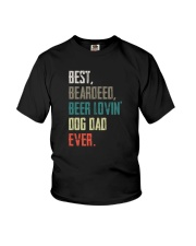 BEARDED BEER LOVIN DOG DAD Youth T-Shirt thumbnail