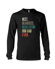 BEARDED BEER LOVIN DOG DAD Long Sleeve Tee thumbnail