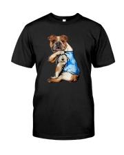 I LOVE MOM BULLDOG Classic T-Shirt front