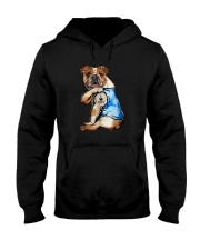 I LOVE MOM BULLDOG Hooded Sweatshirt thumbnail