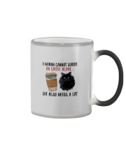 WOMAN SURVIVE ON COFFEE AND A CAT Color Changing Mug thumbnail