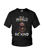 BE KIND AUTISM SLOTH Youth T-Shirt tile