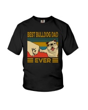 BEST BULLDOG DAD EVERs Youth T-Shirt tile