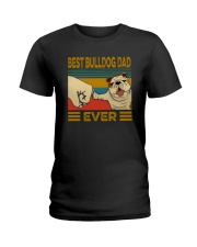 BEST BULLDOG DAD EVERs Ladies T-Shirt tile
