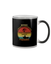 I WAS THINKING ABOUT FISHING Color Changing Mug tile