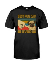 BEST PUG DAD EVER s Classic T-Shirt front