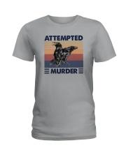 ATTEMPTED MURDER Ladies T-Shirt thumbnail