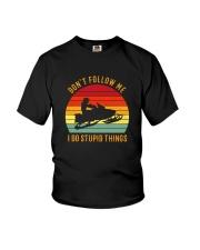 DON'T FOLLOW ME I DO STUPID THINGS SNOWMOBILE Youth T-Shirt thumbnail