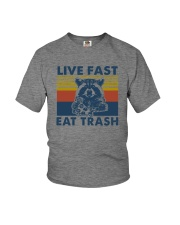 LIVE FAST EAT TRASH Youth T-Shirt thumbnail