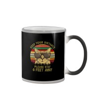 KEEP YOUR DISTANCE PLEASE STAY 6 FEET AWAY Color Changing Mug thumbnail