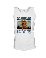GO OUTSIDE A BEAR KILLS U Unisex Tank thumbnail