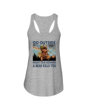 GO OUTSIDE A BEAR KILLS U Ladies Flowy Tank thumbnail