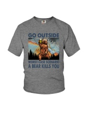 GO OUTSIDE A BEAR KILLS U Youth T-Shirt thumbnail