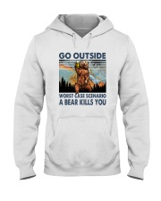 GO OUTSIDE A BEAR KILLS U Hooded Sweatshirt thumbnail