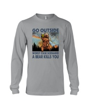 GO OUTSIDE A BEAR KILLS U Long Sleeve Tee thumbnail