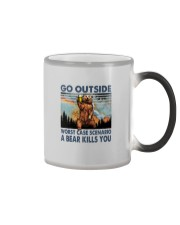 GO OUTSIDE A BEAR KILLS U Color Changing Mug thumbnail
