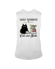EASILY DISTRACTED BT CATS AND BOOKS Sleeveless Tee thumbnail
