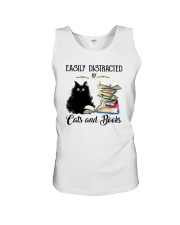 EASILY DISTRACTED BT CATS AND BOOKS Unisex Tank thumbnail