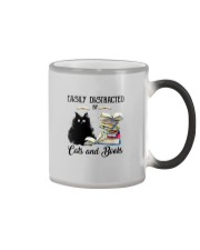 EASILY DISTRACTED BT CATS AND BOOKS Color Changing Mug thumbnail